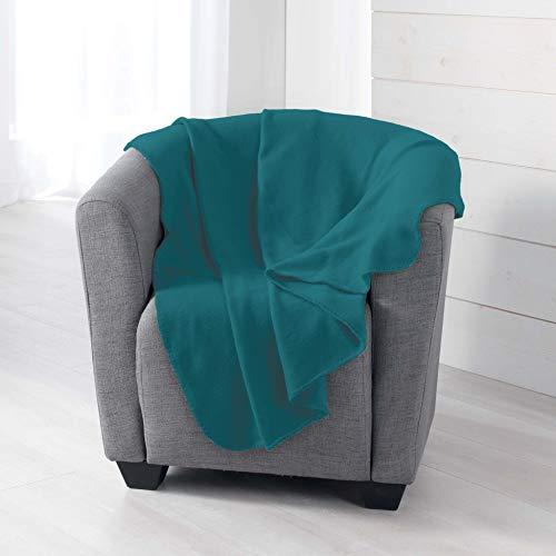 douceur dintérieur Milou PLAID, Polyester, Bleu, 125 x 150 CM