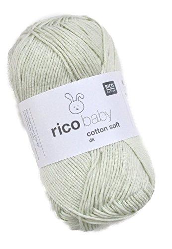 Rico Baby Cotton Soft dk Fb. 049 Mint, weiche Babywolle mintgrün, Baumwollmischgarn zum Stricken & Häkeln