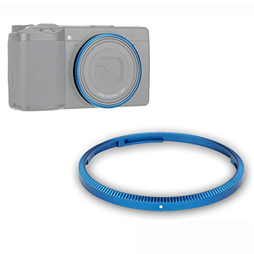 Anillo de metal para lente Ricoh GR III GR3 sustituye a anillo original Ricoh o anillo accesorio GN-1 (azul)