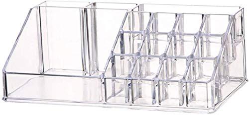 SIMIN Organizador de Maquillaje, Acrílica Transparente Caja de Almacenamiento de Acrílico Estante de Maquillajes Organizador de Cosméticos para Guardar Cosméticos, Barras de Labios