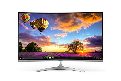 "Medion Akoya X58455 - Monitor curvo con retroiluminación LED de 80.1 cm (31.5"", Full HD, HDMI, 16:9), color blanco"