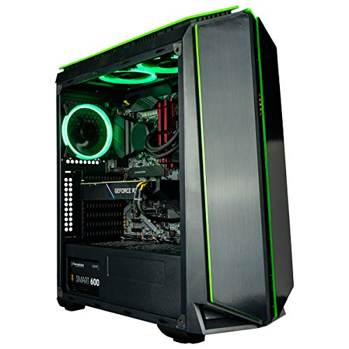 CUK Mantis Gaming PC (Liquid Cooled Intel Core i9-9900KF, NVIDIA GeForce RTX 2080 Ti 11GB, 32GB RAM, 1TB NVMe SSD + 2TB, 750W Gold PSU, Z390 Motherboard) Best Tower Desktop Computer for Gamers