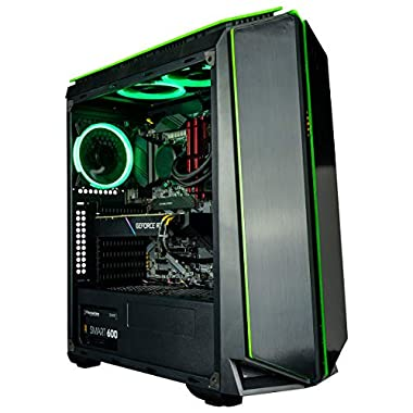 CUK Mantis Gamer PC (Liquid Cooled Intel Core 11th Gen i9, 32GB RAM, 512GB NVMe SSD + 2TB HDD, NVIDIA GeForce RTX 3070…
