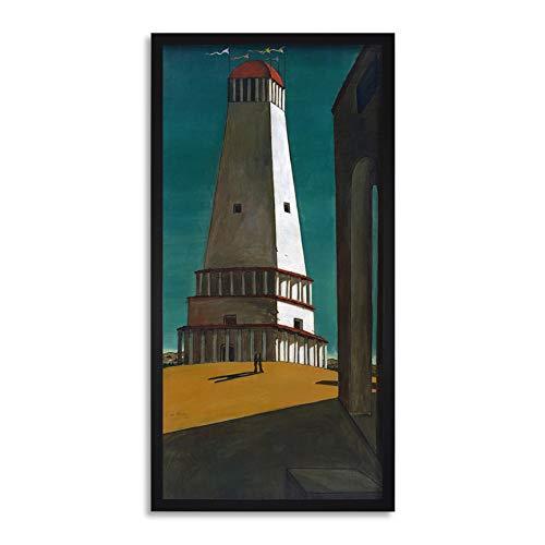 Giorgio de Chirico La Nostalgia dell'infinito Framed Wall Art Print Long 25X12 Inch