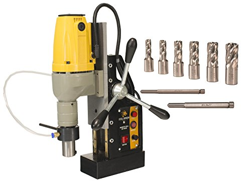Steel Dragon Tools MD40 Magnetic Drill Press with 7pc 1in. Small HSS Cutter Kit