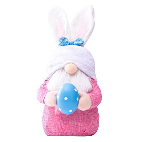 Jiangpan Easter Bunny Gnome Plush Easter Faceless Dwarf Doll Valentine's Day Decoration Home Holiday Table Ornament