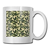Funny Ceramic Novelty Coffee Mug 11oz,Aloha Hawaiian Tropical Jungle Forest Hibiscus Flowers Leaves Nature,Unisex Who Tea Mugs Coffee Cups,Suitable for Office and Home