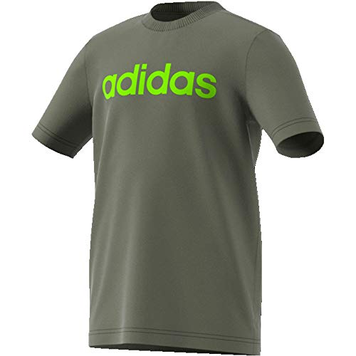 adidas Jungen YB E LIN Tee T-Shirt, Verleg/Seliso, 176 (15/16 años)