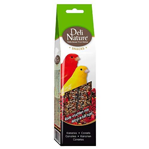 DELINATURE Barritas Frutos Rojos para Canario, 2 uds. de 60 g, Pájaros