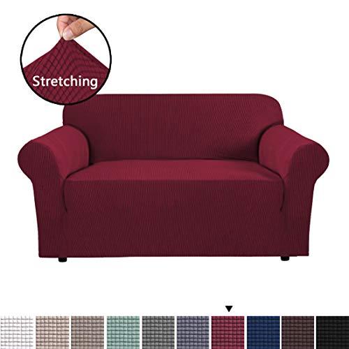 BellaHills Sofa Cover 2 Sitzer elastische Sofa Hussen für Wohnzimmer Spandex Stretch-Gewebe Super...