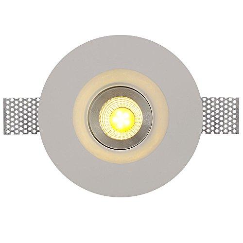 Natsen® LED Panel Einbauleuchte Gips Keramik Leuchte Einbaustrahler klassisch Schlank Deckenleucht mit GU10 Leuchtemittel Runde Lampe SG5020