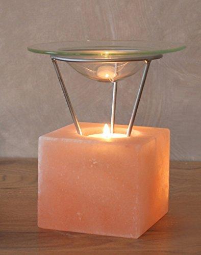 Salzlampe Aromalampe PETITE KUBUS Teelichthalter Duftlampe Salzleuchte Salzkristalllampe Salzkristall Salz Lampe Kristall Lampe