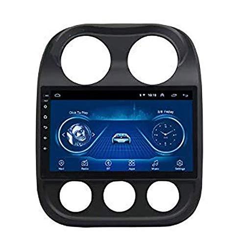 WY-CAR 10 Pollici in Dash Car Stereo Android 8.1 MP5 Player per Jeep Compass (2010-2016), GPS Radio 2.5D Curvo Edge Touch Screen, WiFi, Bluetooth, retromarcia