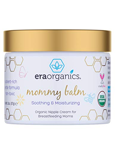 Price comparison product image Soothing Nipple Cream for Breastfeeding Moms 100% Natural,  USDA Certified Organic Healing Balm For Chapped,  Irritated,  Sensitive Skin Care. Non-GMO,  Baby Safe Breastfeeding Cream Era-Organics