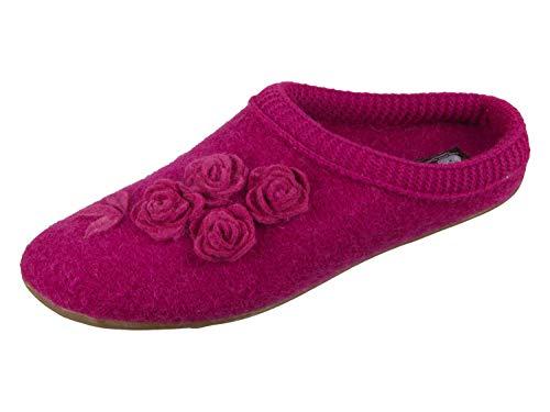 Haflinger Damen Dakota Austin Pantoffeln Pink (Fuchsia 34) 42 EU