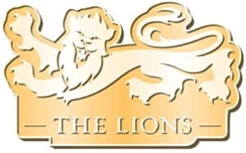 British & Irish Lions Rugby Logo Pin Badge [dark gold]