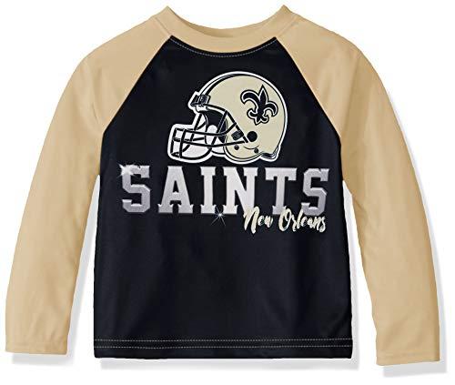 NFL New Orlean Saints Boys Long Sleeve TEAM TEE SHIRT, Team Color, 4T