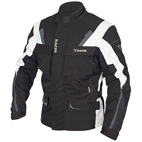 Racer Siena Chaqueta Textil Stretch, Negro, 12XL