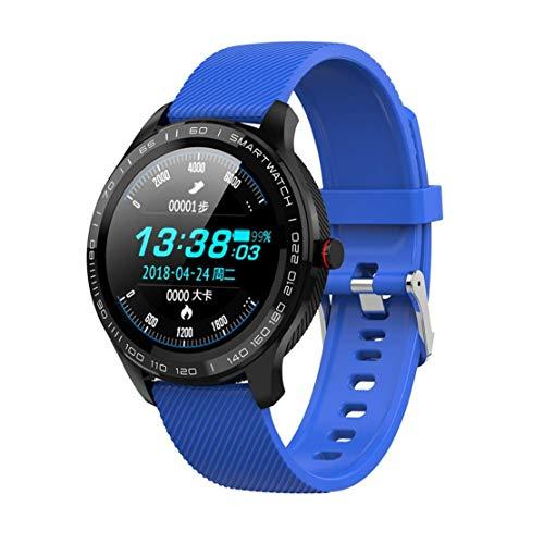 MINASAN Multisport-Smartwatch Activity Tracker Armband mit Pulsmesser IP68 wasserdichte Sport-Armbanduhren Bluetooth Pedometer Fitness (Blau)