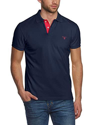 GANT He-Pique SS Rugger Poloshirt blau - XXL