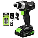 Letton 20V MAX Cordless Impact Driver Kit, 1/4 Inch Hex, 2.0Ah PWRCore...
