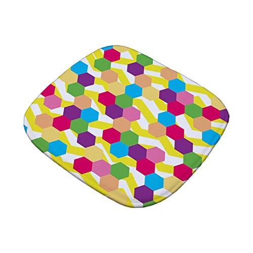 Weimay - Cojín para silla grueso, cojín multicolor, estrella para comedor, jardín, cocina, poliéster, cojín para tu cocina, taburete, silla de oficina, silla de comedor, silla de ruedas, coche, sofá