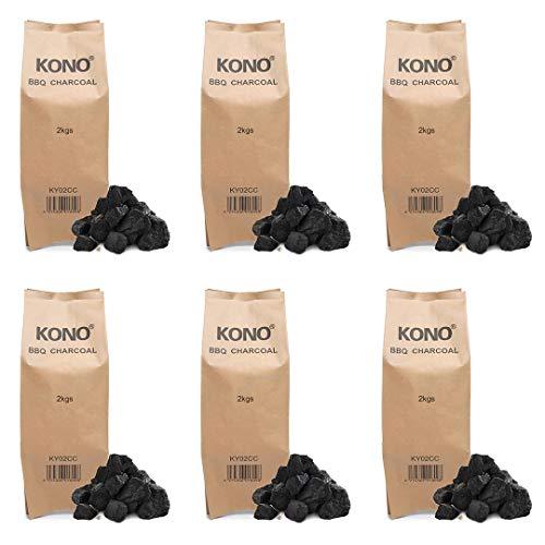 Kono Instant Light BBQ Charcoal Briquettes 6x2KG - Perfect for Charcoal...