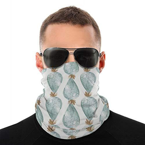 Cactus turban-sjaal, multifunctioneel, hoofdbedekking, hoog ademend, elastisch, voor het gezicht, stofdicht, winddicht, zonwering, uniseks.