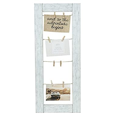 Gallery Solutions 11X26 Rustic Clip Collage Frame, Brown