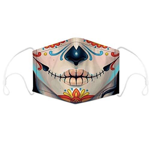 LOOVEE Mund und Nasenschutz Waschbar, Multifunktionstuch Motorrad 3D Motiv Mundschutz Halstuch Winddicht Atmungsaktiv Bandans Halstuch Sommerschal für Herren, Damen, Kinder (20)