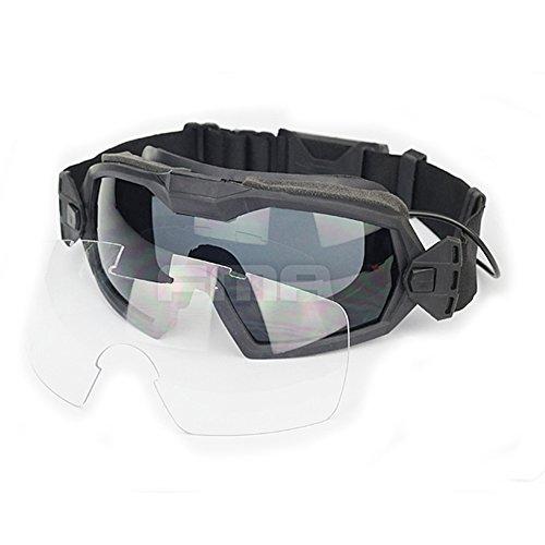 Fan Version Kühler Brille Regulator Schutz Brillen für Sport Bike Radfahren Fahren Tactical Paintball Softair Ski Snowboard 2 Farben (schwarz, DE) (schwarz)