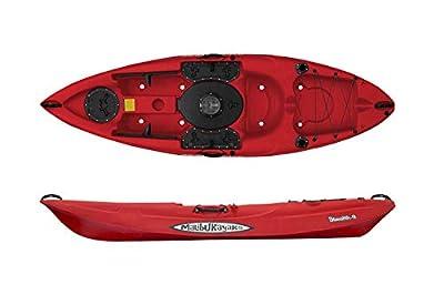 MK09 Malibu Kayaks Stealth-9 Sit on Top Fishing Kayak, 9 Foot Red from Malibu Kayaks