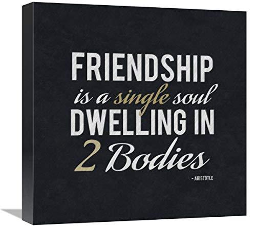 "Quote - Aristotle - Friendship Is-Canvas Art-18""x18"""