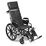 """Invacare - TRSX5RC8P / T94HAP Tracer SX5 Recliner Wheelchair, with Desk Length Arms and T94HAP Elevating Legrests with Padded Calf Pads, 18"""" Seat Width"""