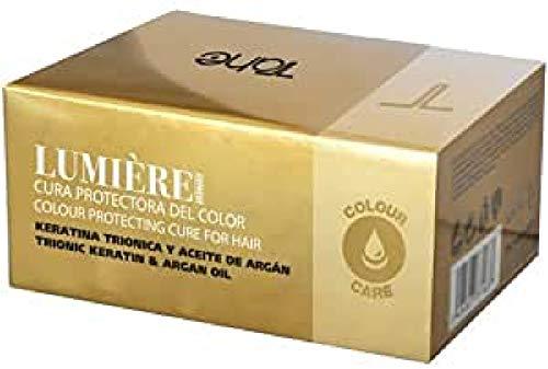 Tahe Lumière Express Cura Protectora del Color Rica en Keratina Triónica y Aceite de Argán, 5 X 10 ml