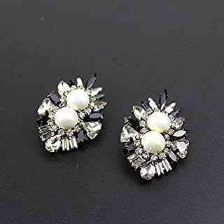 New Fashion Earring shourouk Style All Crystal Pearl Earring Design Statement shourouk Earrings for Women Wholesale 661 - (Metal Color: 1)