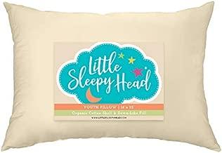Little Sleepy Head Youth Pillow, 16x22, Organic Cotton Shell, Down-Like Fill