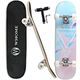 WHOME Pro Skateboard Complete for Adult Youth Kid and Beginner - 31' Double Kick Concave Street...