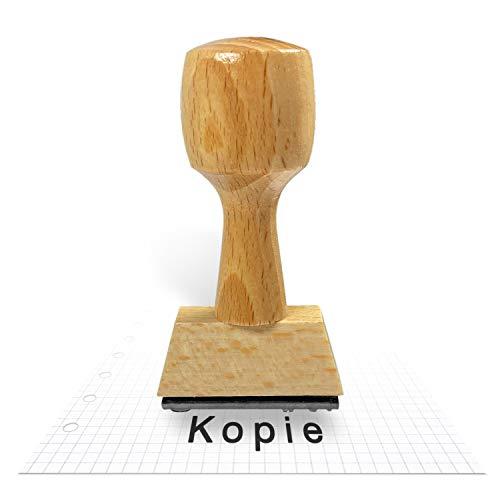 Betriebsausstattung24® Traditioneller Holzstempel inkl. Textplatte | Stempel aus Naturholz | Buchenholz | 3,5 x 6,5 cm | (Kopie, 3,5 x 6,5 cm)