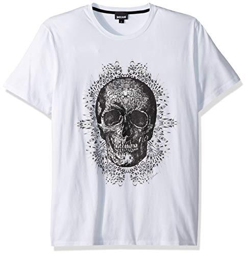 Just Cavalli Camiseta gráfica para hombre - Blanco - Large