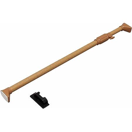 アイリスオーヤマ つっぱり棒 突っ張り棒 伸縮棒 強力 木調 幅75~120cm ダークブラウン H-MNPJ-120