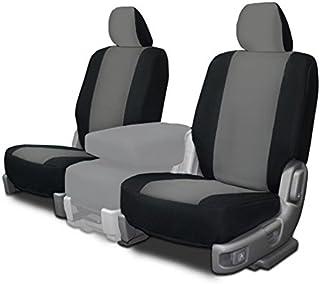 CarsCover Custom Fit 2009-2016 Dodge Ram 1500 2500 3500 Pickup Truck Neoprene Car Front Seat Covers Gray & Black Sides Driver & Passenger Cover