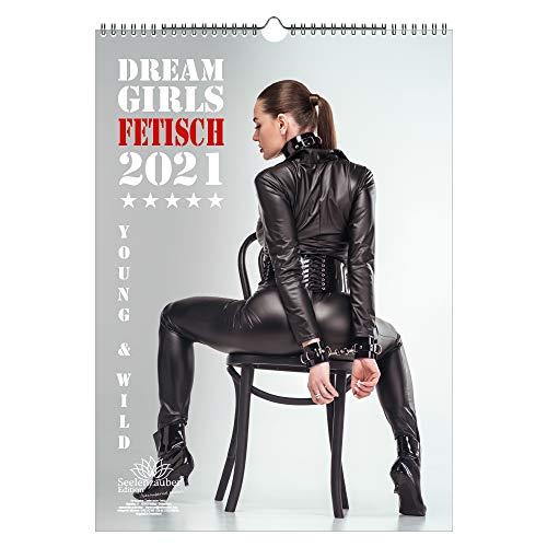 Calendario de pared 2021 (29,7 x 42,0 cm) chica fetiche erótica sexy Fetisch Girls - Contenido del set de regalo: 1x calendario, 1x tarjeta de Navidad y 1x tarjeta de felicitación (3 partes en total)