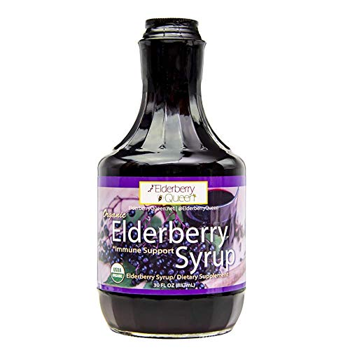 Organic Elderberry Liquid Supplement 30 oz by Elderberry Queen, Sambucus, Aronia Berry, Pure Natural Certified Organic Immune Support Herbal