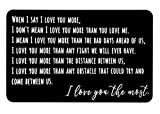 Laser Engraved Aluminum Wallet Love Note Insert(i love you the most), Mini Love Note Idea, Romantic...