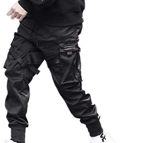 Uomini Cargo Pantaloni Hip Hop Jogging Casual Pantaloni di Felpa Harajuku Stile Multi Tasche Slim Fit Lavoro Lounge Pantaloni