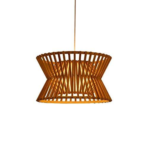 Wylolik Luz grande de bambú tropical lámpara del vintage de la mano...