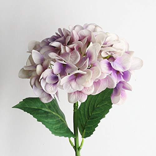 QYLOZ Hortensia disposición de simulación de usos múltiples Floral Hydrangea Material sensación de realismo Que se Siente como un Verdadero Flor de 4 Colores Opcionales Centro de Flores Artificiales