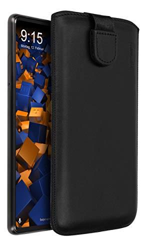 mumbi Echt Ledertasche kompatibel mit Xiaomi Mi Mix 2 Hülle Leder Tasche Hülle Wallet, schwarz