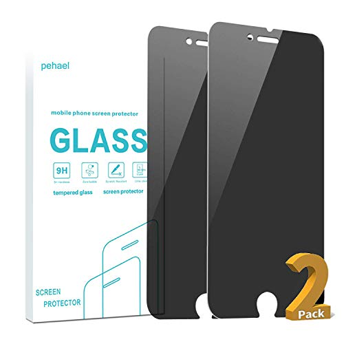 pehael Privacy Screen Protector for iPhone 7/8, 4.7 inch 9H Hardness Anty- Spy Tempered Glass, 3D...